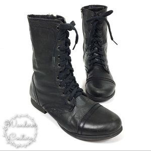 Steve Madden Troopa Lace Up Combat Boots